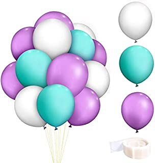 100 Pieces 12 inch Latex Balloons,For Helium Or Air Use. Multi-colored package for Wedding Birthday Festival Party Decorat...