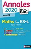 Annales ABC du Bac 2020 Maths Term ES-L