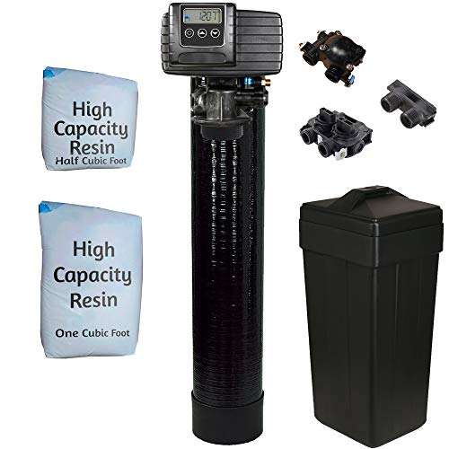AFWFilters 5600sxt Metered On-demand 48,000 Grain Water Softener with brine tank, bypass and 1' adapters