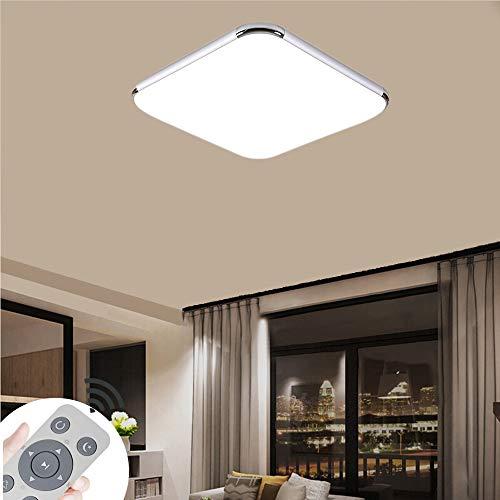 ZPRIO 48W Plafón LED Regulable,Panel De Plafón Para Pasillo,Salón,Cocina,Oficina,Clase De Protección De Lámpara Moderna,Luz De Bajo Consumo,Regulable (3000-6500K) Con Mando A distancia (48W Regulable)