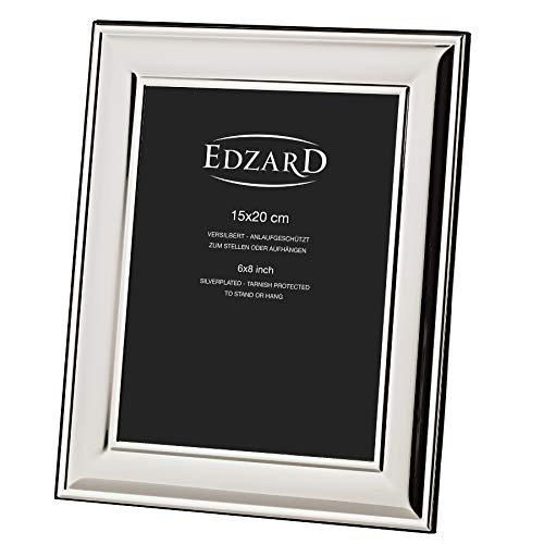 EDZARD Fotorahmen Bilderahmen Sunset für Foto 15 x 20 cm, edel versilbert, anlaufgeschützt, 2 Aufhänger