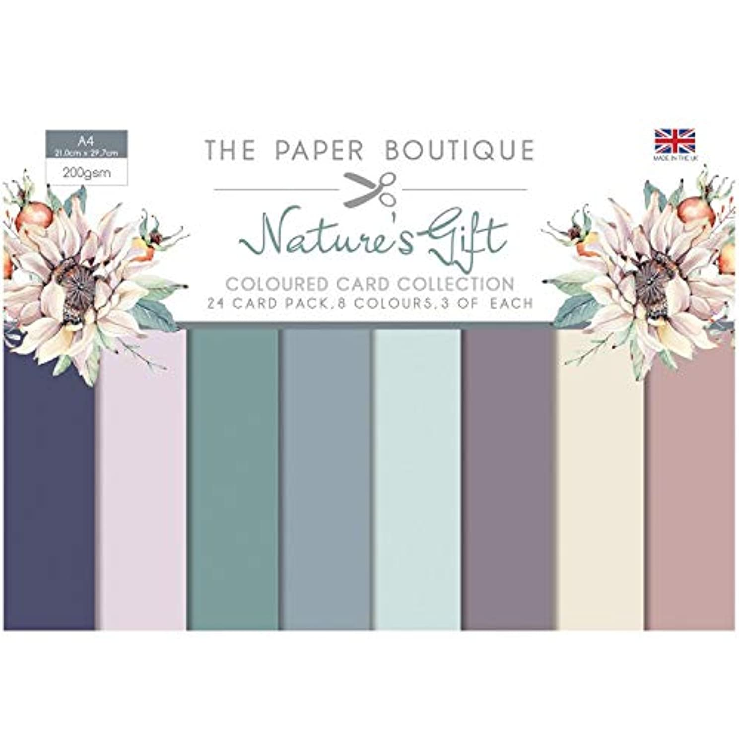 The Paper Boutique Nature's Gift Coloured Card Collection