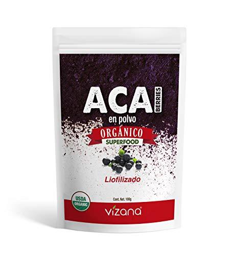 Acai Berry Liofilizado orgánico certificado en polvo 100g Vizana Nutrition