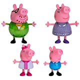"""Peppa Pig Fancy Family – 4 Figure Pack, 3"""" Tall – Including Peppa Pig Characters Daddy Pig, Mummy Pig, Peppa Pig, and George – Toys for Toddlers, Kindergarteners, Kids"""