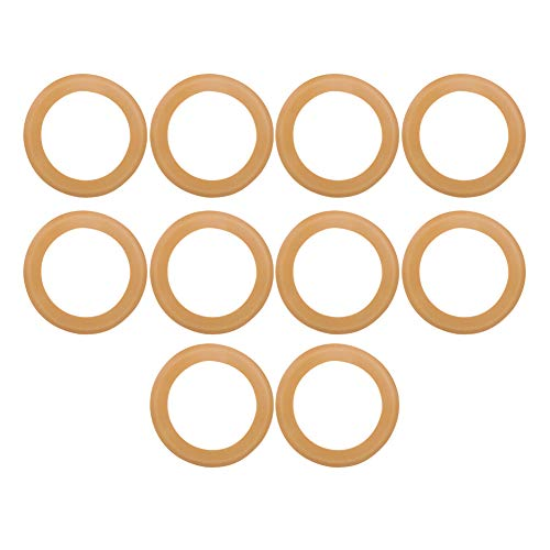 10PCs Rubber Piston Ring, Air Compressor Compression Piston Ring, Seals Rubber O-Ring Kit, Insulated Pump Accessories for 550w Oil‑Free Silent Air Compressor