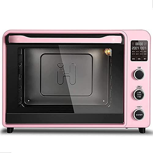 YYDMBH Oven,Air Fryers Oven Air Fryer, 40L Toaster Oven Air Fryer Microwave Integrated Household Baking Smart Electric Oven air Fryer (Color : Pink)