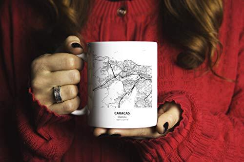 DKISEE Venezuela Mapa Taza Caracas Mapa Venezuela Regalo Venezuela Venezuela Tazas de Té de Café