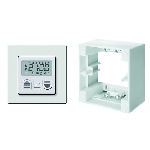Schellenberg Zeitschaltuhr Plus zur Rollladensteuerung, 25572 + Schellenberg Aufputzrahmen für Zeitschaltuhren STANDARD und PLUS - weiß