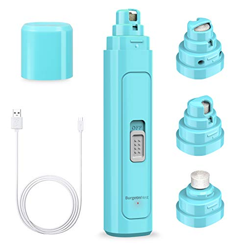 Dog Nail Grinder for Large Dogs 2 Speed Professional Pet Paw Clippers Trimmers 2000 mAh Rechargeable Eletric Nail File for Large Medium Small Dog Cats Light Blue