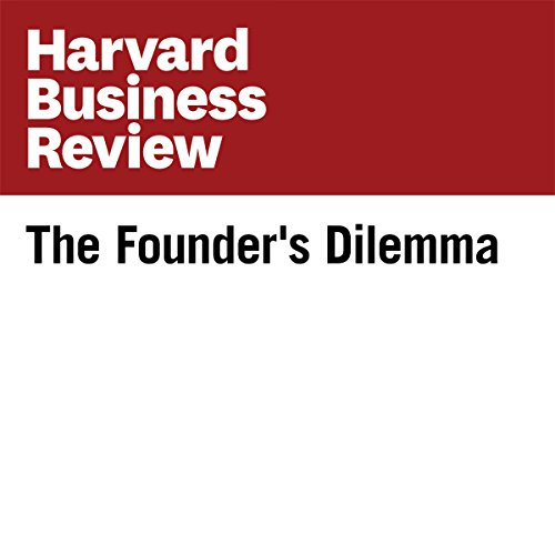 The Founder's Dilemma (Harvard Business Review) copertina