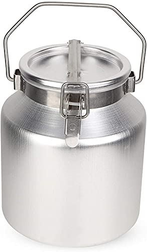RDJSHOP Rice Storage Container 5L Aluminum Alloy Storage Rice Bucket With Handle Container Storage Rice Milk Vat Easy to Store (Color : Silver, Size : 16x23cm) (Color : Silver, Size : 16x23cm)