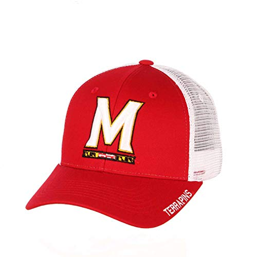 Zephyr Adult NCAA Rivalry Structured Meshback Adjustable Hat (Maryland Terrapins - Team Color, Adjustable)