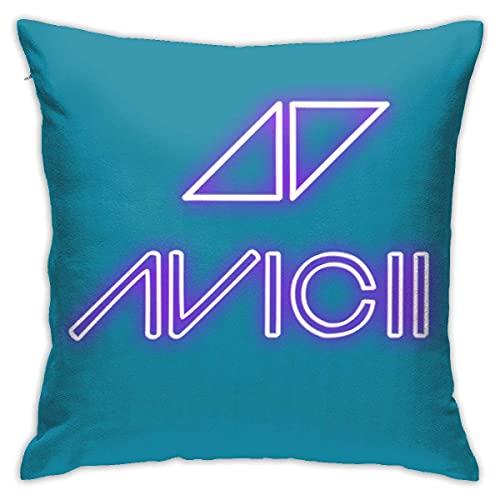 Funda de almohada con logo de Avicii para fans