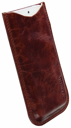 Krusell 95411 Tumba Mobile Leather Pocket Pouch for iPhone 5/5S/5C - Vintage Brown