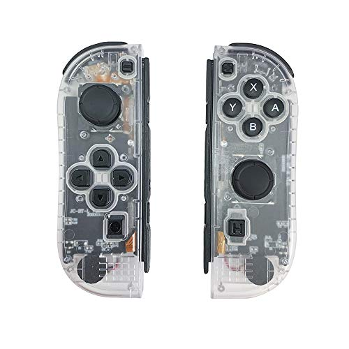 QUMOX Joy-con Game Controllers Gamepad para Switch Console Transparente