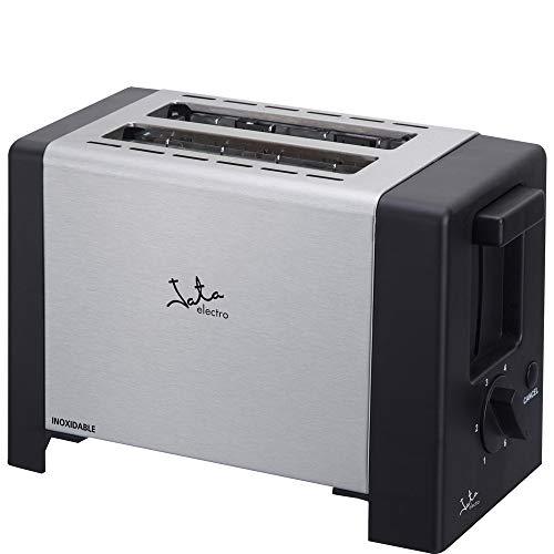 Jata Tostador TT607 -  Dos ranuras extra anchas de 30 mm de ancho, Centrado automático del pan, Cuerpo de acero inoxidable, Bandeja recogemigas