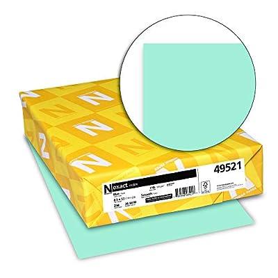 Neenah Exact Index, 110 lb, 8.5 x 11 Inches, 250 Sheets, Blue