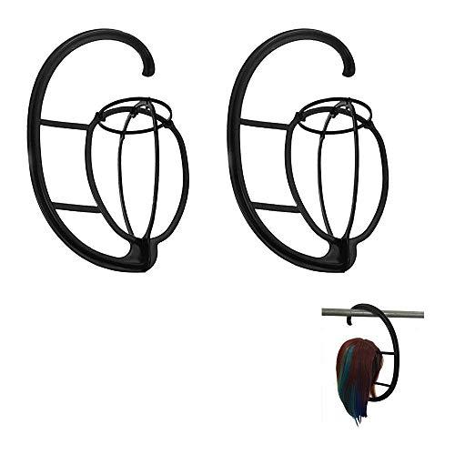 TopWigy Perücke Ständer Tragbare Falten Plastik Perückenständer Halter beweglicher Perücke-Standplatz Perücke Trockner (2stk Perückenständer)