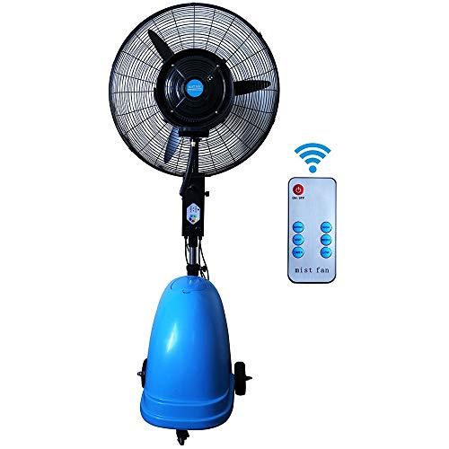 JIAYUAN Swingventilator, verticaal, Misting Forte luchtbevochtiger, geluidsarme luchtbevochtiger, verstelbare staande ventilator, industriële, draaibaar, 50 m2, 3 snelheden