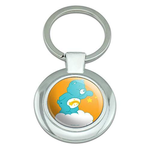 Care Bears Wish Bear Keychain Classy Round Chrome Plated Metal