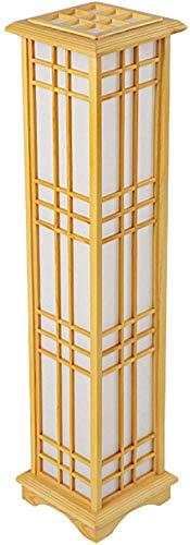 LOKKRG Lámpara de pie modernabase de lámpara de pie de maderalámparas de pie para dormitoriosala de Estar (15 Wluz cálidasoporte de luz de Madera macizacolor maderaportalámparas E27)