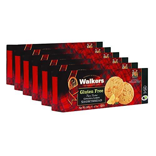 Walkers Shortbread Gluten Free Ginger & Lemon Shortbread 29.4 Oz (Pack of 6) (1022)