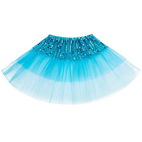 Jupe Tutu Fille Chic, Kolylong Enfant en Bas âge Enfants Filles Ballet Princesse Tutu Habiller Danse Jupe Costume de fête pour la Performance Scolaire, la Danse, la Photographie 2-7 Ans