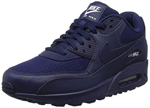 Nike Air Max 90 Essential Scarpe da Ginnastica Uomo, Blu (Midnight Navy/White 404), 39 EU