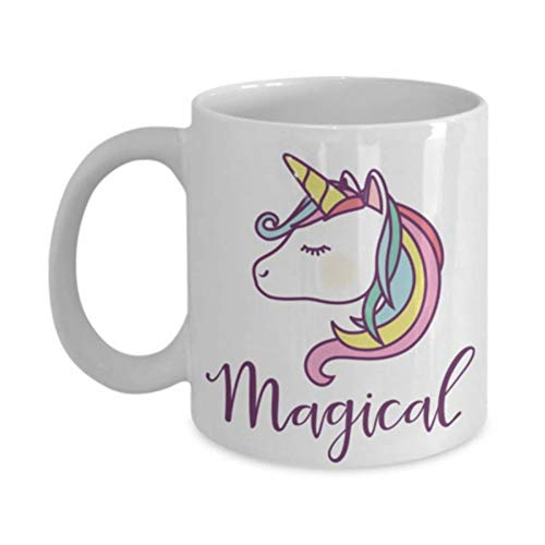 N/ A Unicornio mágico - Los Mejores Regalos de Unicornio - Taza de café de 11 oz Regalos de Taza de té