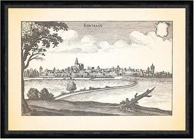 Kunstdruck Kirchain Kirchhain Amöneburger Becken St. Elisabeth Kirche Faks_Merian 0038