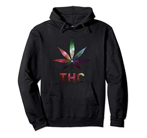 Cannabis Tee THC Kanabis Galaxy Marihuana Hanfblatt T Shirt Pullover Hoodie