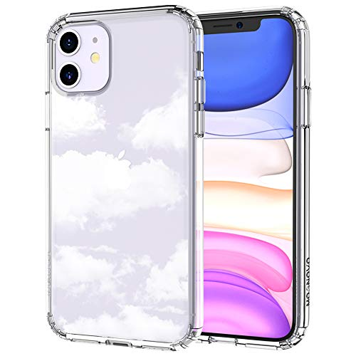 MOSNOVO Cloud Pattern Designed for iPhone 11 Case - Clear
