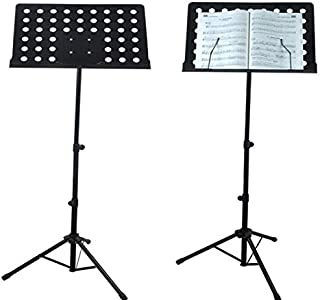 Adjustable Music Conductor Stand Folding Sheet Music Stand Lightweight Metal Music Holder Durable Tabletop For Guitar Piano