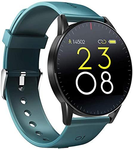 Reloj inteligente IP67 resistente al agua con frecuencia cardíaca y monitor de sueño, monitor de fitness, control de música, pantalla táctil completa.