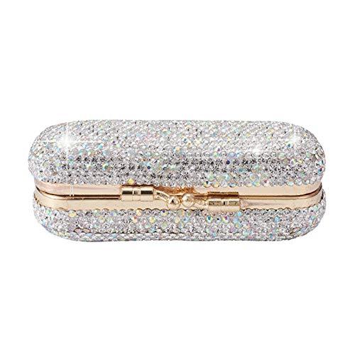 POHOVE Lipstick Case With Mirror Shiny Diamonds Luxurious Vintage Lipstick Organizer Makeup Storage Box Travel Organizer Cases For All Women'S Lipstick