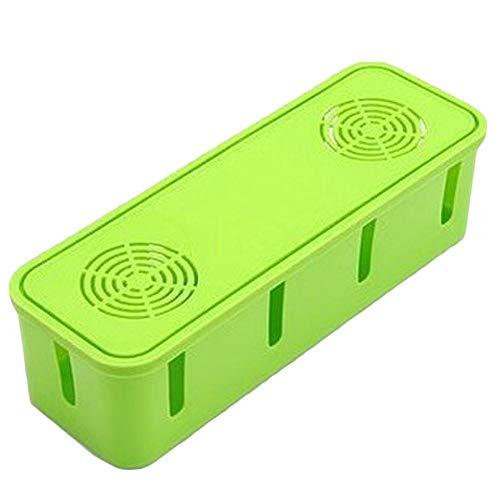 Demarkt Kabelbox, bureau-organizer, ABS-kunststof, kabelmanagement met anti-slip bodem voor stekkerdoos, opbergdoos
