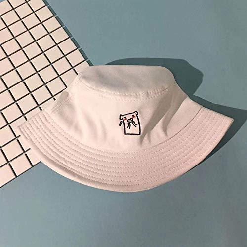 JXFM Fisherman hoed mannen en vrouwen wilde zonneklep hoed kleine verse zachte zuster wastafel cap witte code