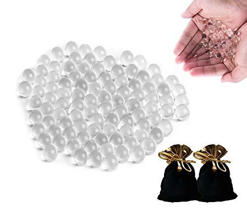 Murmeln Glas Schleuder Munition Zwille Kugeln, Glasmurmeln für Steinschleuder Schießen, Murmelbahn und Traditionelle Marmorspiele, mit Einer Exquisiten Aufbewahrungstasche (9mm,C-1kg)