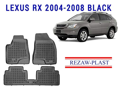Rezaw-Plast All Weather Floor Mats Liners Set Compatible with Lexus RX 300 330 350 400h 450 2004-2008 SUV Black 3D Custom Fit