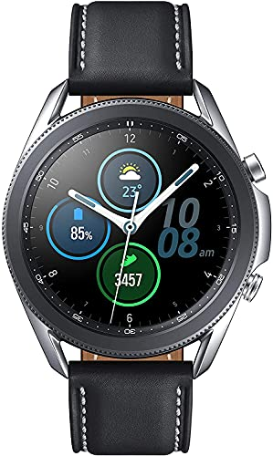 Galaxy Watch 3 (41mm, GPS, Bluetooth) Smart Watch with Advanced Health Monitoring, Fitness Tracking, and Long Lasting Battery - Mystic Silver (Korean Version)