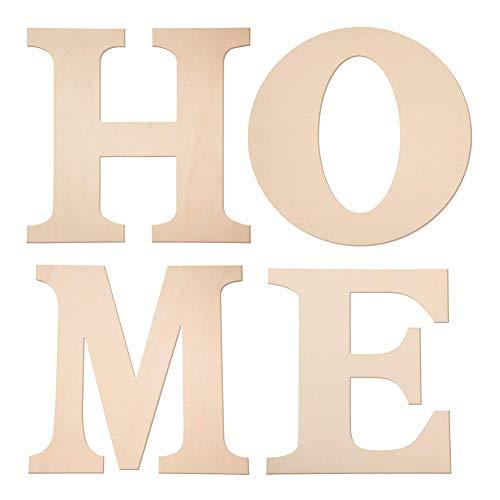 DOMIRE Adornos Jardin, Arte de la Pared, sin terminar de Madera Inicio Letters Pared Adornos para el hogar decoración de la Oficina