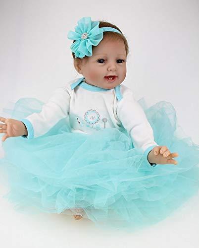 AIBAOLIAN Reborn Babys mädchen Realistische Weiche Silikon Vinyl 55 cm 22 Zoll Lebensecht Reborn Puppen