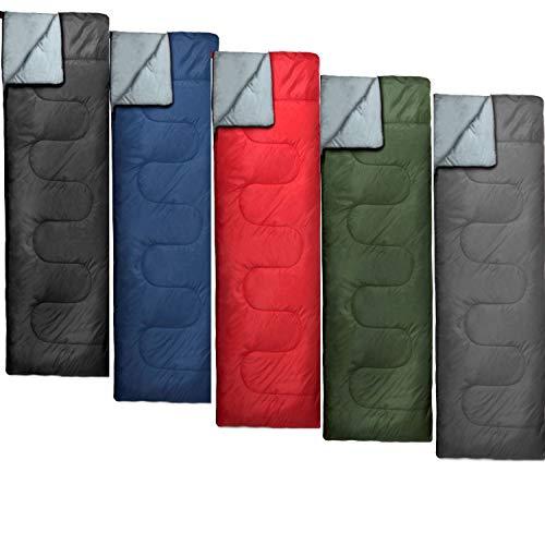 20 Pack Bulk Sleeping Bags, Envelope Sleeping Bags, 4 Seasons Warm or Cold Lightweight Indoor Outdoor Sleeping Bags for Adults, Backpacking, Camping (Standard Sleeping Bags)