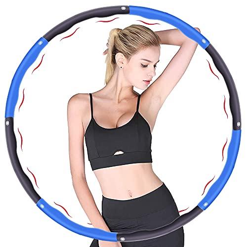 FAUA Fitness Reifen, Verwendet für Gewichtsverlust und Massage, Kann in 6-8 Teile Unterteilt Werden, 75-95 cm Durchmesser, Premium Schaumstoff, Geeignet für Erwachsene und Kinder