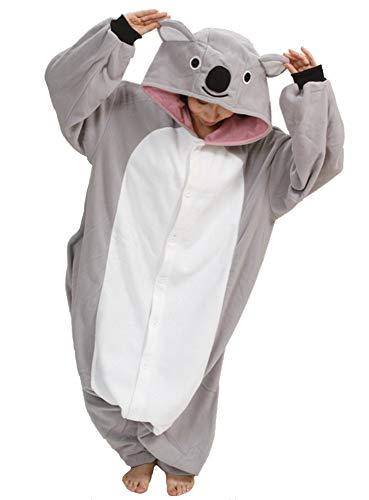 Emmarcon - Disfraz de carnaval halloween pijama cálido de animales kigurumi cosplay zoológico onesies XL/altezza 180-189cm,max 125kg Koala