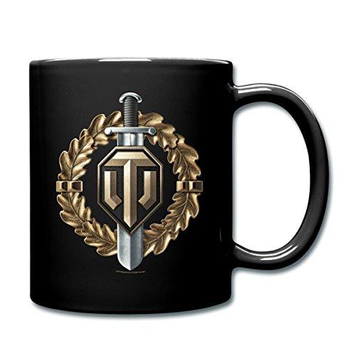 World Of Tanks Medaille Krieger Tasse einfarbig, Schwarz