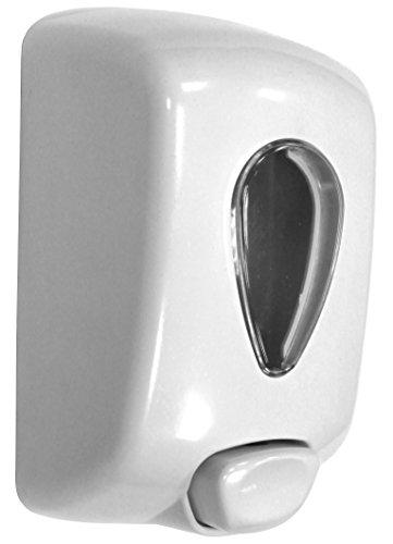 Nofer 03036.W Dosificador Jabón 1L, Colección Classic, ABS Blanco, 1 Litro