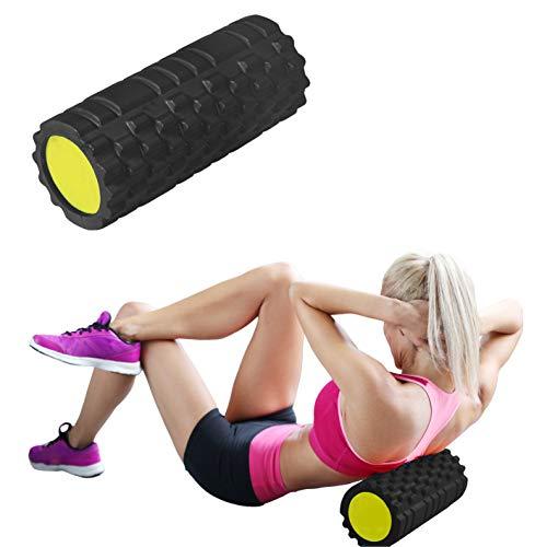 Calma Dragon Foam Roller Solid Core 89891, Rodillo de Masajes para Fitness, Yoga, Pilates, Masajes de Espalda, Masajeador Miofascial (Negro)