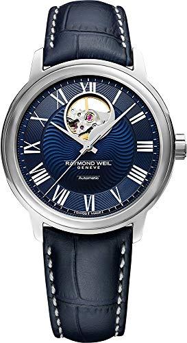 Reloj Automático Raymond Weil Maestro, Azul, Correa de piel, 2227-STC-00508
