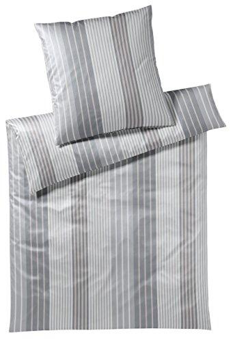 elegante Mako Jersey Bettwäsche 3477-009-135x200 80x80Stone